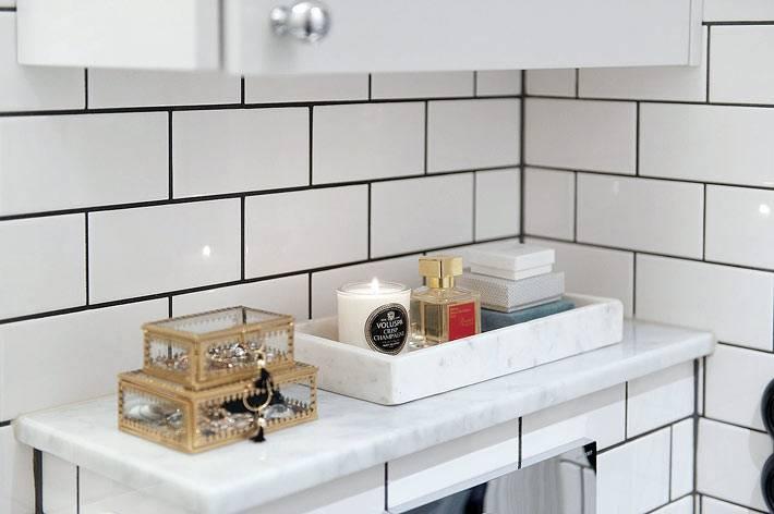 красивые аксессуары в дизайне ванной комнаты фото