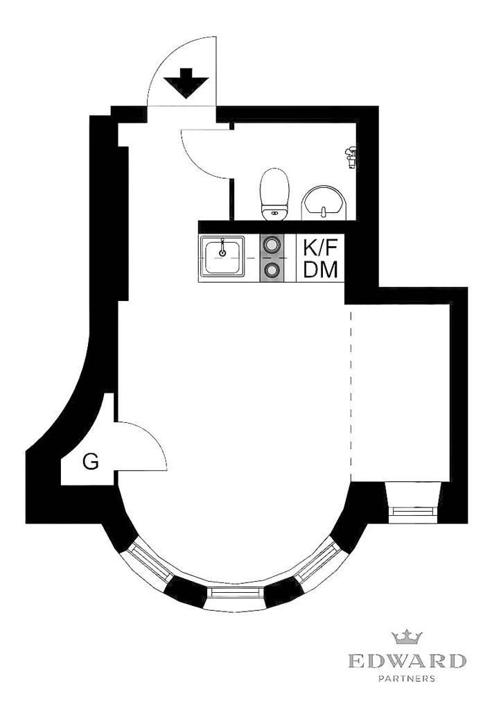 планировка маленькой квартиры-студии фото
