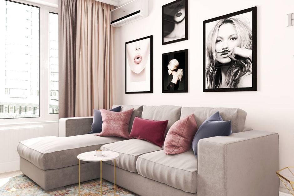 красивый проэкт дизайна интерьера квартиры для девушки
