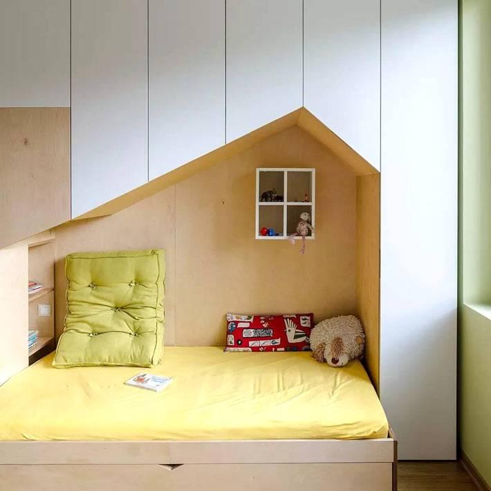 выдвижные спальные места под детской кроватью