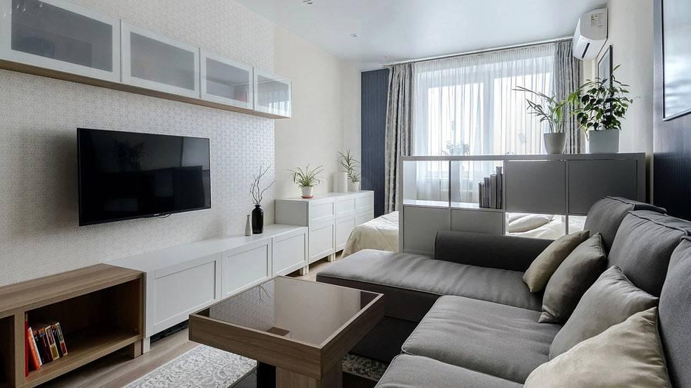 как выделить зону для гостей в однокомнатной квартире