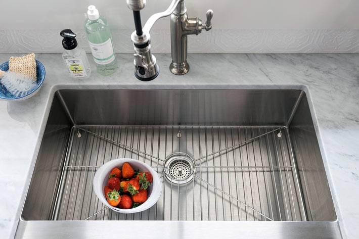 красивое оформление раковины на кухне фото