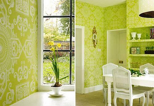 зеленый цвет в интерьере, зеленый интерьер, дизайн интерьера в зеленом цвете