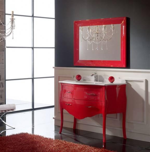 красный цвет в дизайне ванной комнаты, bathroom in red, red bathroom, красная ванная, фото красной ванной комнаты