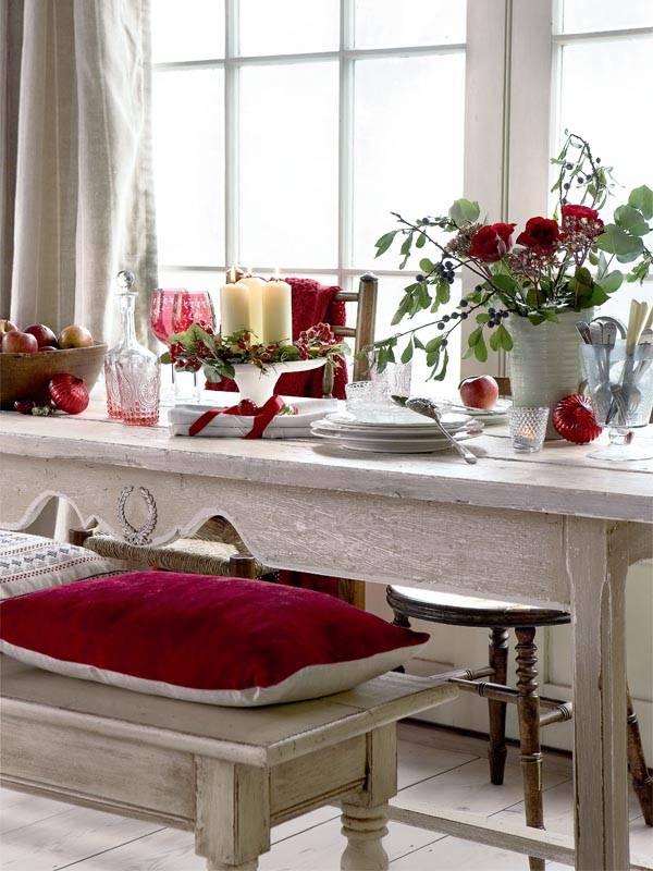 новогодний декор, декор к рождеству, красно-зеленый декор, новый год, декор интерьера к рождеству