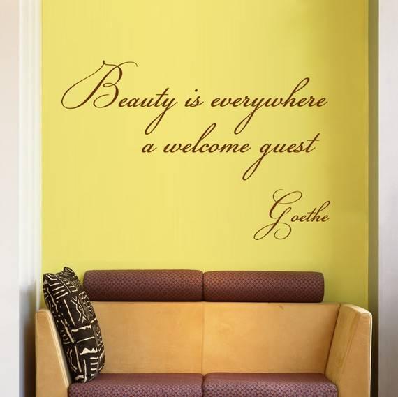 наклейки на стену, оформление стен, стикер в интерьере, наклейки-надписи, оригинальные надписи на стену, надписи в дизайне интерьера, фотографии красивых интерьеров