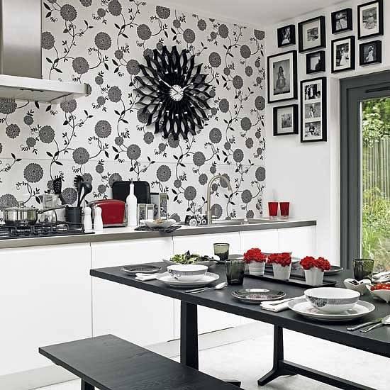 черно-белый интерьер, фото, красивые интерьеры, черно-белый дизайн интерьера, монохромный интерьер, черный и белый цвет в интерьере