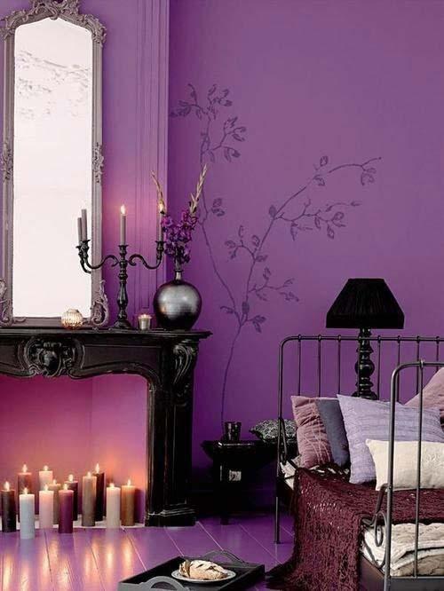 фиолетовый цвет в интерьере, фиолетовый дизайн, красивые интерьеры, пурпурный цвет в интерьере