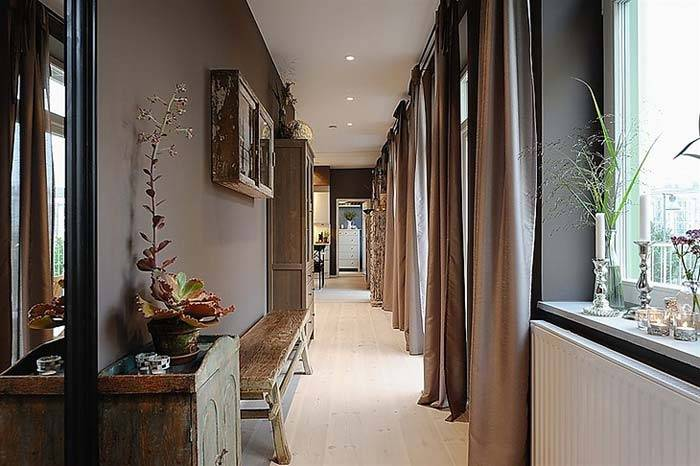 дизайн интерьера квартиры в темных тонах фото