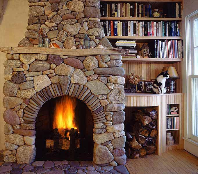 камин в доме фото