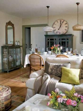 настенные часы в интерьере, ретро часы, старинные часы, красивый интерьер, декор интерьера
