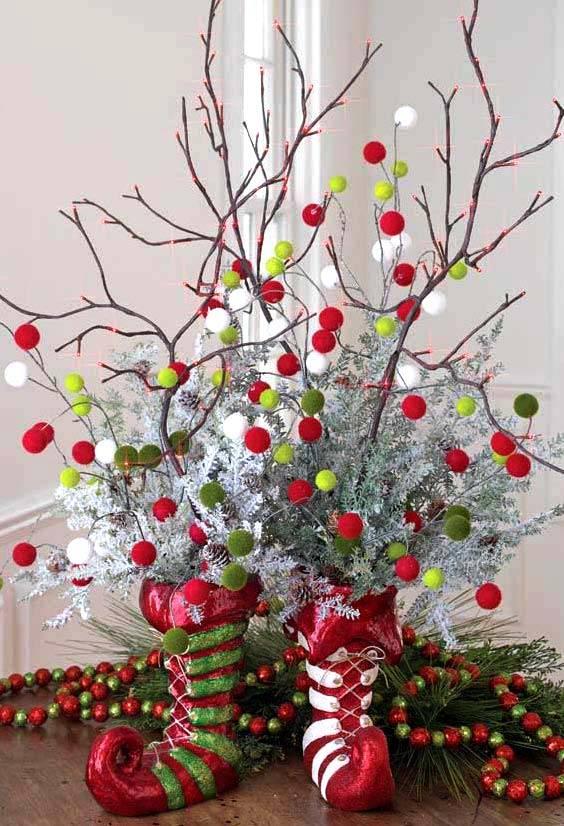Rama Arbol Decorada Navidad