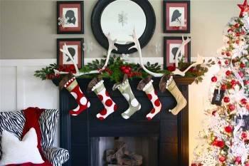 рождественские сапожки на камин