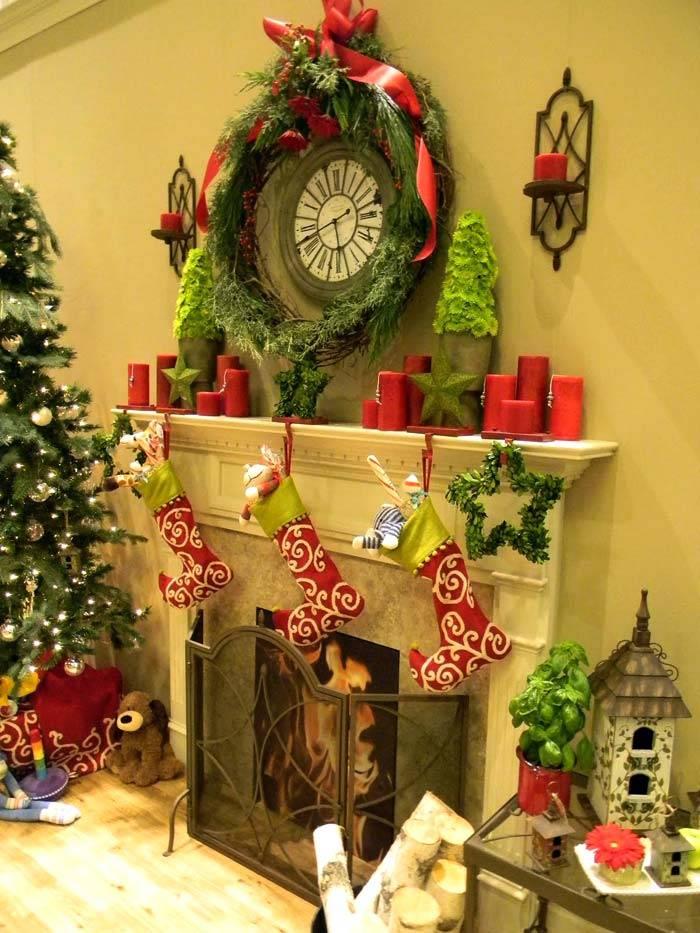 рождественский камин фото