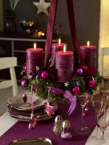праздничные композиции со свечами