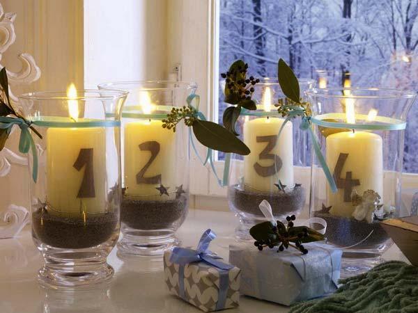 праздничный декор со свечами