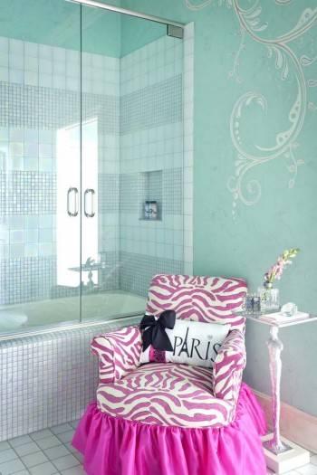 бирюзовый цвет в дизайне детской комнаты