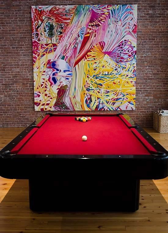 просторный и стильный лофт в нью-йорке фото