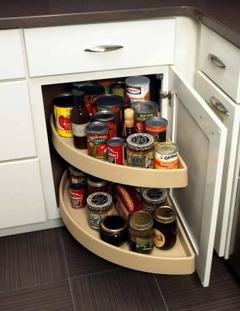 удобные ящики для хранения на кухне