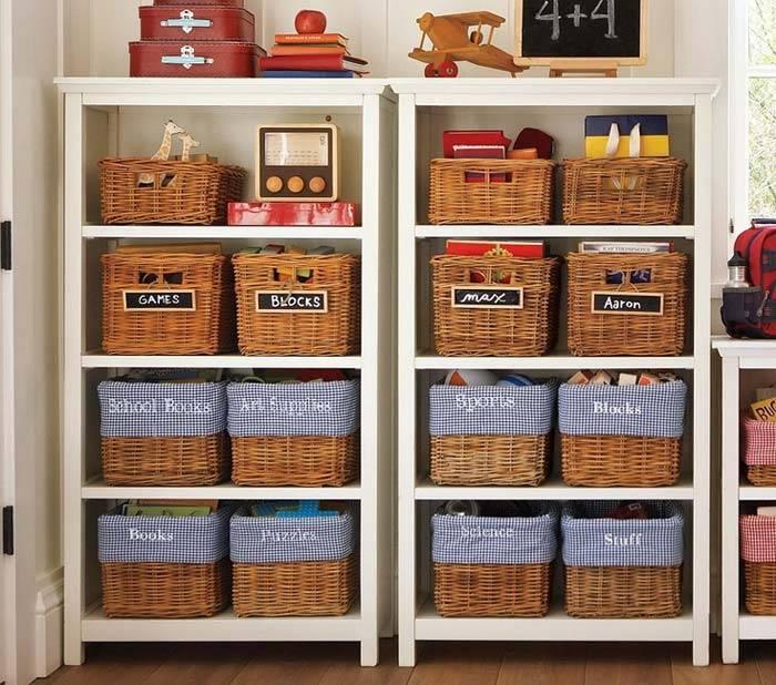 где хранить игрушки в детской комнате