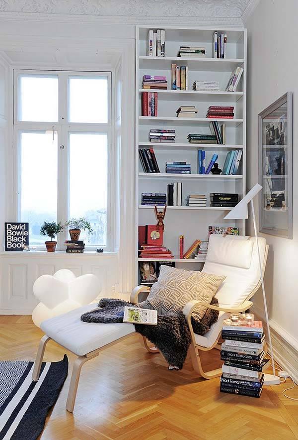 уголок для чтения в квартире