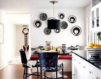 декор из настенных тарелок фото
