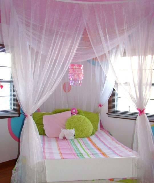 декоративный балдахин в детской комнате
