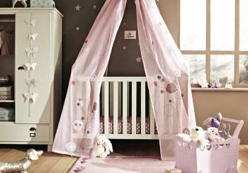 кроватка с балдахином для новорожденного