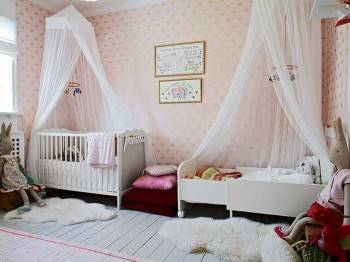 дизайн детской комнаты с балдахином