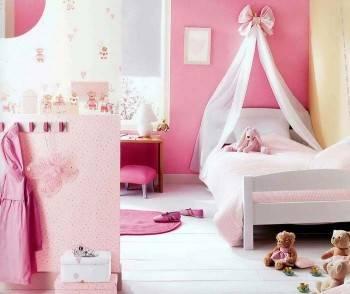 интерьер детской комнаты с балдахином