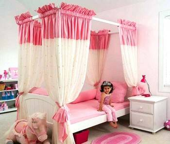 балдахин в детской комнате для девочки