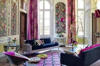 цветочный узор в дизайне и декоре