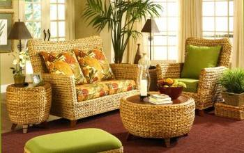 плетеная мебель в квартире