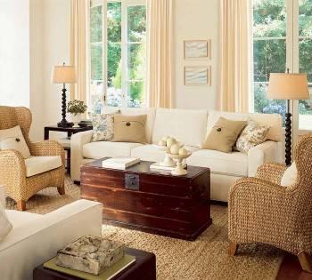 плетеная мебель, интерьер