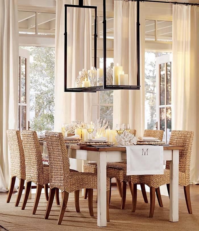 плетеная мебель, интерьер, столовая