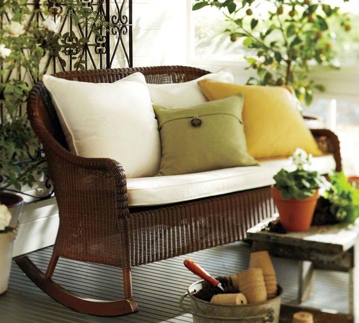 плетеная мебель, терраса