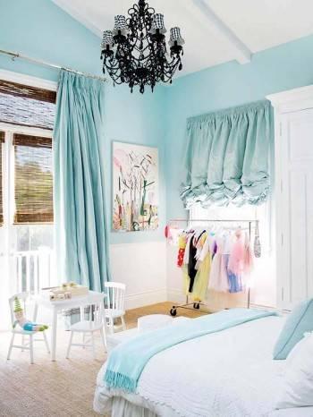 голубой для спальни