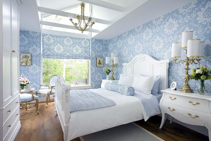 голубые спальни