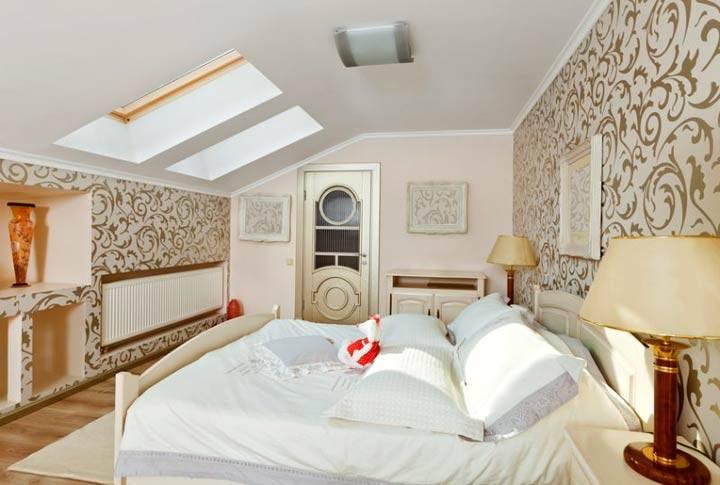 спальни в мансарде