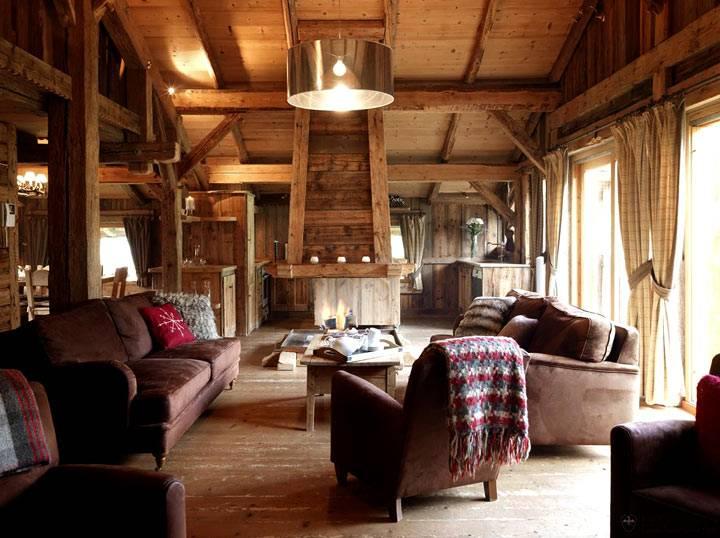 дом шале в Альпах