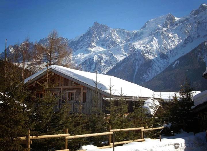 зимний дом шале фото