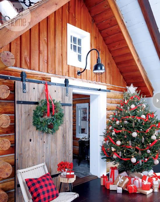 Интерьер новогоднего дома