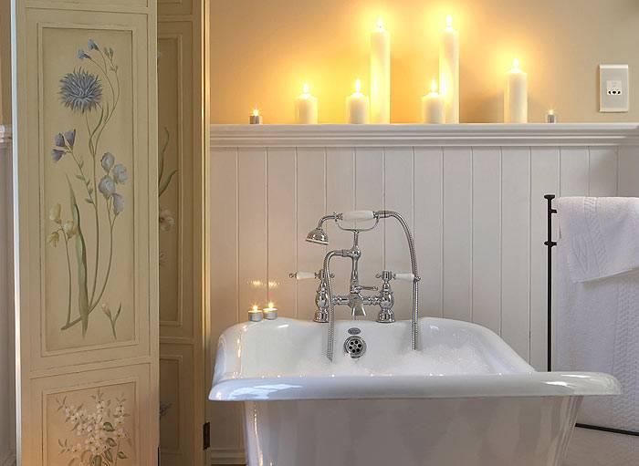 свечи в ванной комнате