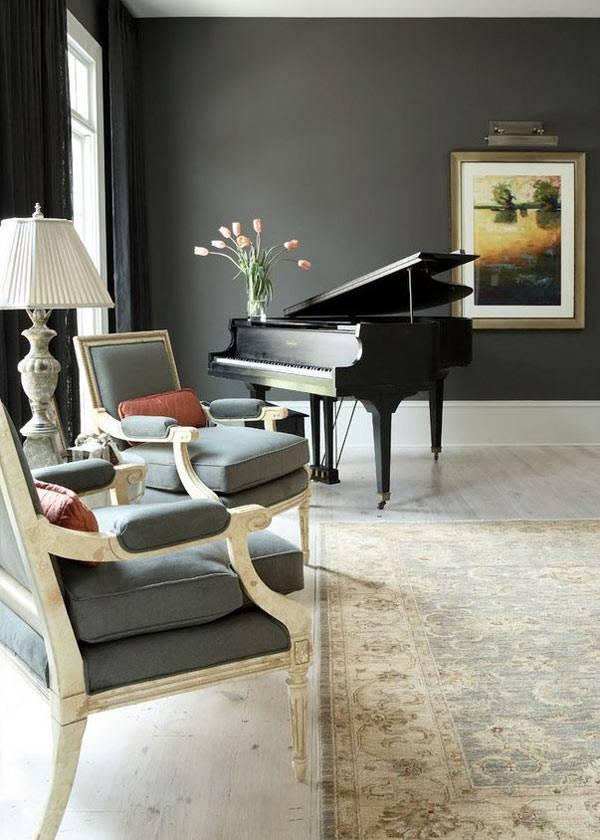 интерьер с пианино