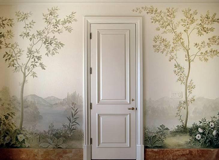 декор, роспись стен