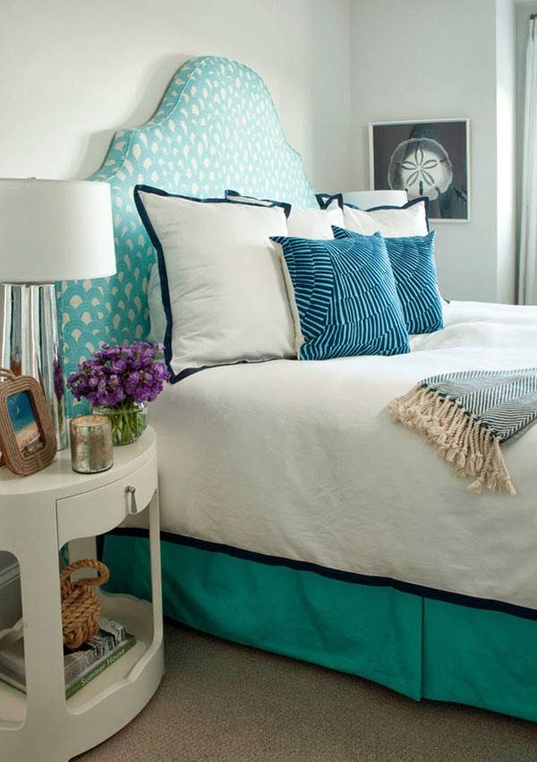 бирюзовая спальня