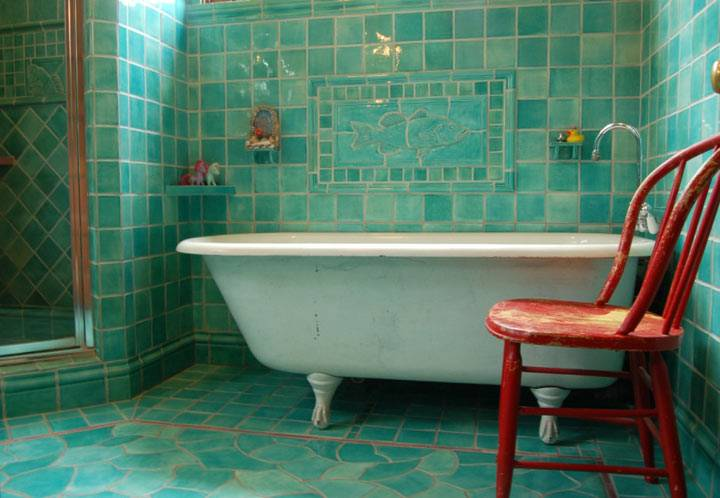 бирюзовая ванная фото