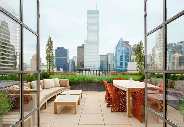 Сады на крышах небоскребов