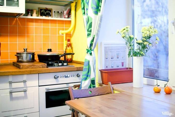 подоконник в интерьере кухне фото