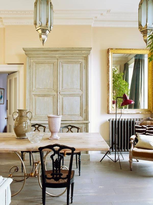 квартира с состаренной мебелью в лондоне фото